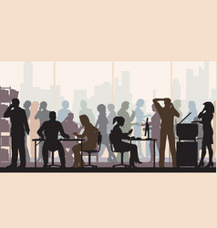 very busy office color vector image vector image