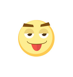 yellow emoji icon for app game ui or web design vector image