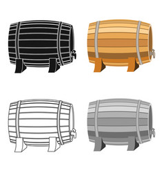 barrel of wine icon in cartoon style isolated on vector image vector image