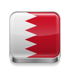 Metal icon of Bahrain vector image vector image
