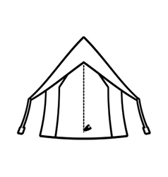 Outline tourism tent camping excursions vector