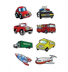 transportation collection vector image
