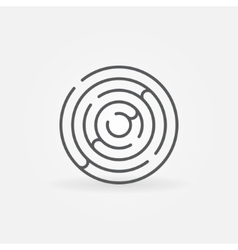 Trendy round maze outline icon vector image vector image