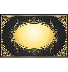 vintage gold floral frame vector image vector image