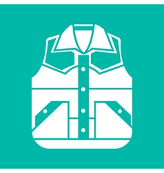 Waistcoat sketch icon isolated vector image