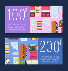 100 and 200 dollars room price vector image