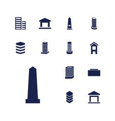 13 district icons vector