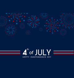 4th july happy independence day design vector