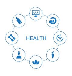 8 health icons vector