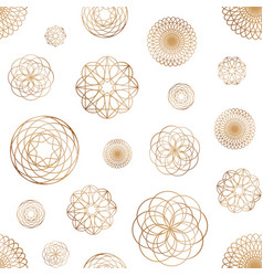 abstract seamless pattern with various round vector image