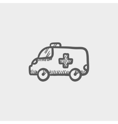 Ambulance car sketch icon vector image