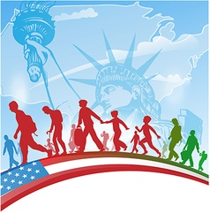 American people immigration vector