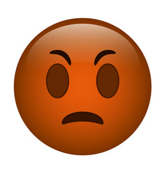 angry emoticon funny icon vector image