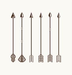 Arrows set for logo vector