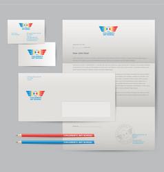 art school logo identity pencils wings vector image