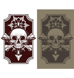 Awesome tattoo skull and bones set vector image