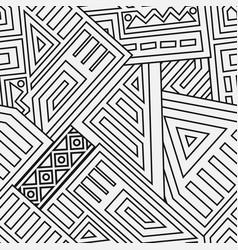 Aztec seamless pattern vector