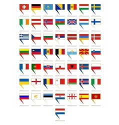 Badges with flags of Europe vector image