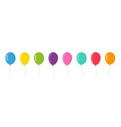 Balloon in cartoon style bunch balloons vector