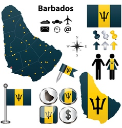 Barbados map vector image vector image
