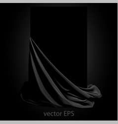 Beautifully draped black silk place for your vector