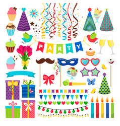 birthday party design elements birthday vector image