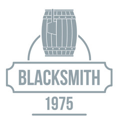 Blacksmith logo simple gray style vector