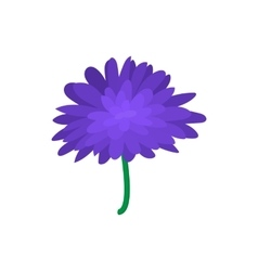 Blue dahlia icon cartoon style vector image