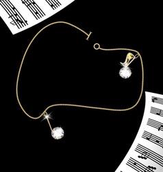 Bracelet notes vector