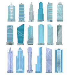 Building skyscraper in cityscape city vector