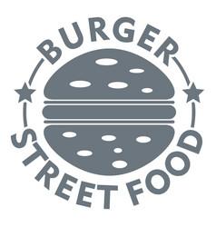 Burger street food logo simple gray style vector