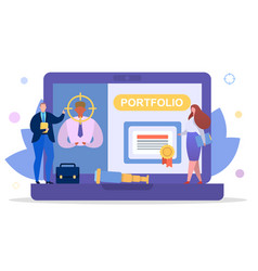 Business employee search for job concept vector