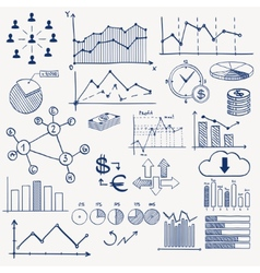 Business finance management infographics doodle vector image