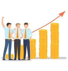 business people increasing capital and profits vector image