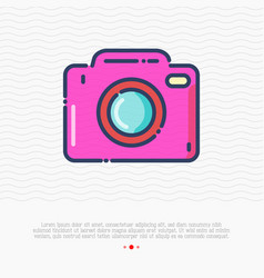 camera thin line icon sign photo vector image