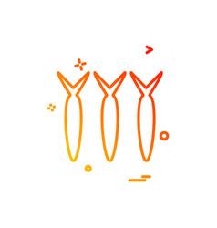 carrots icon design vector image