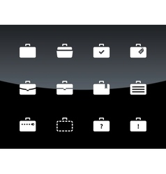 Case icons Traveling bags and luggage vector image