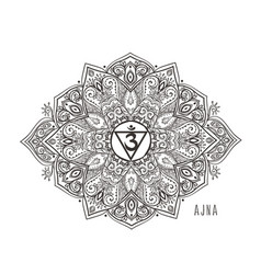 chakra beautiful symbol vector image