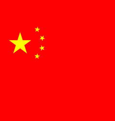 china flag icon chinese nation red flag vector image