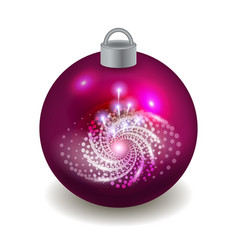 christmas ball isolated on white background vector image