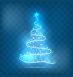 christmas tree light style vector image