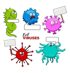 Colorful Evil Viruses vector