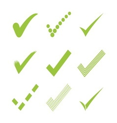 Confirm check marks icons1 vector