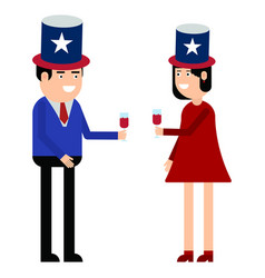 couple hold united states vector image