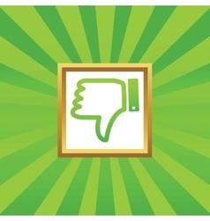 Dislike picture icon vector