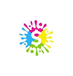 dollar paint logo icon design vector image