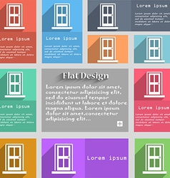 Door icon sign Set of multicolored buttons Metro vector image