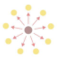 Expanse halftone icon vector