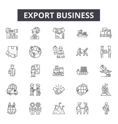 export business line icons for web and mobile vector image