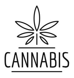 Farm cannabis logo outline style vector